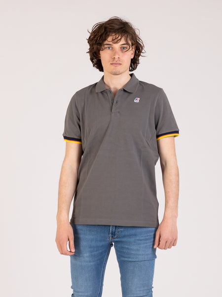 Polo Vincent contrast grey smoked