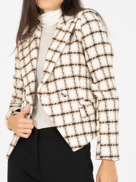 Blazer chanel check miele