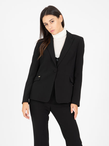 Blazer leggero single-button nero