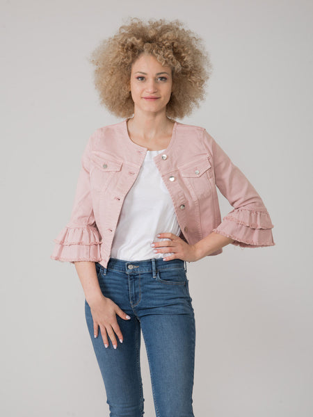 Giacca in jeans rosa