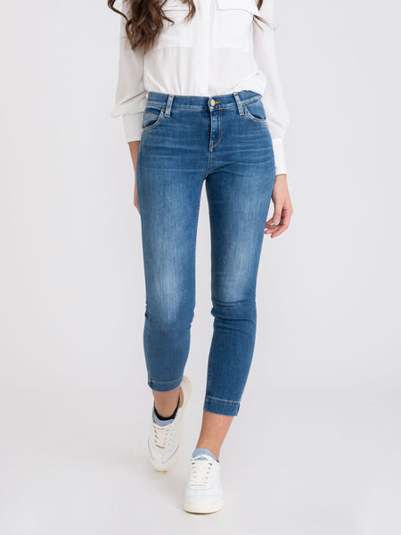 Jeans Stefy denim medio con spacchetti