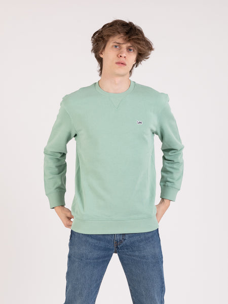 Felpa Plain Crew granite green