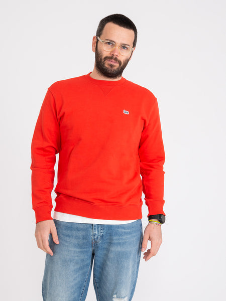 Felpa Plain Crew poppy red