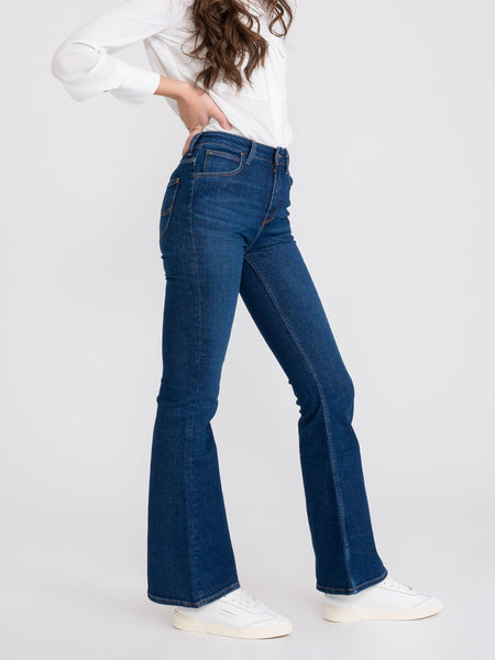 Jeans Breese flare denim scuro