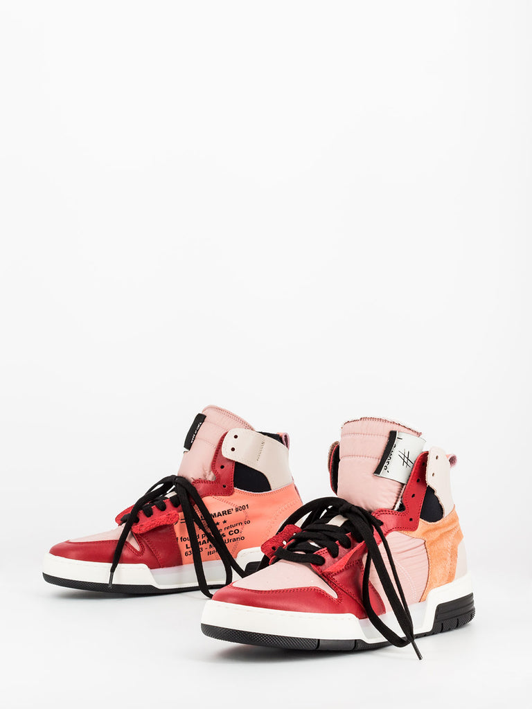 LEMARE' - Sneakers alte rosso / rosa