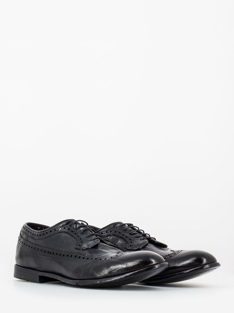 LEMARGO - Derby woody blu con brogue