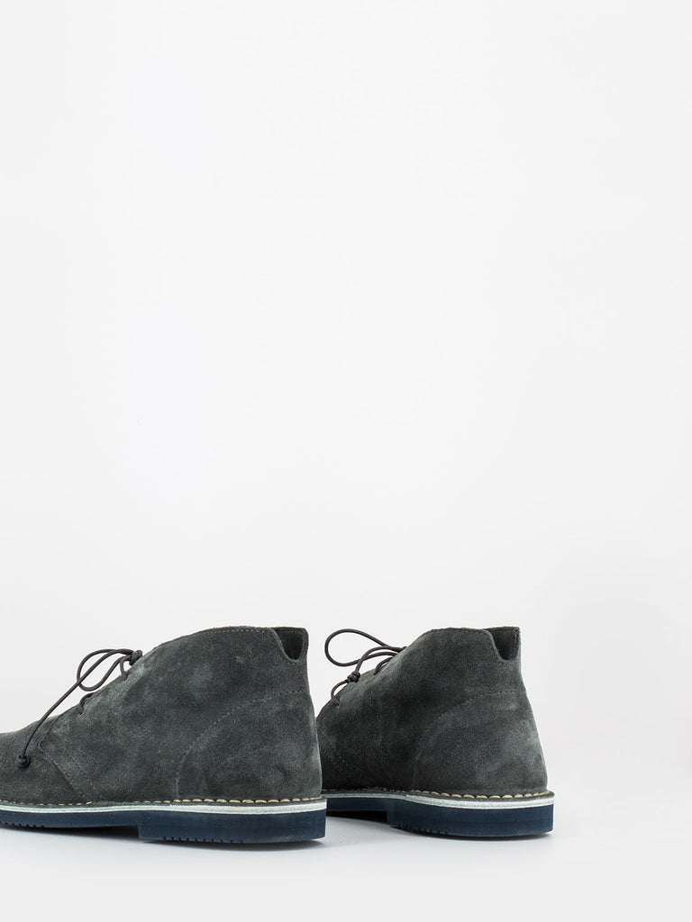 LEREWS - Polacchi track in suede piombo