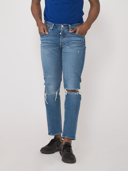 501 slim taper denim medio scuro