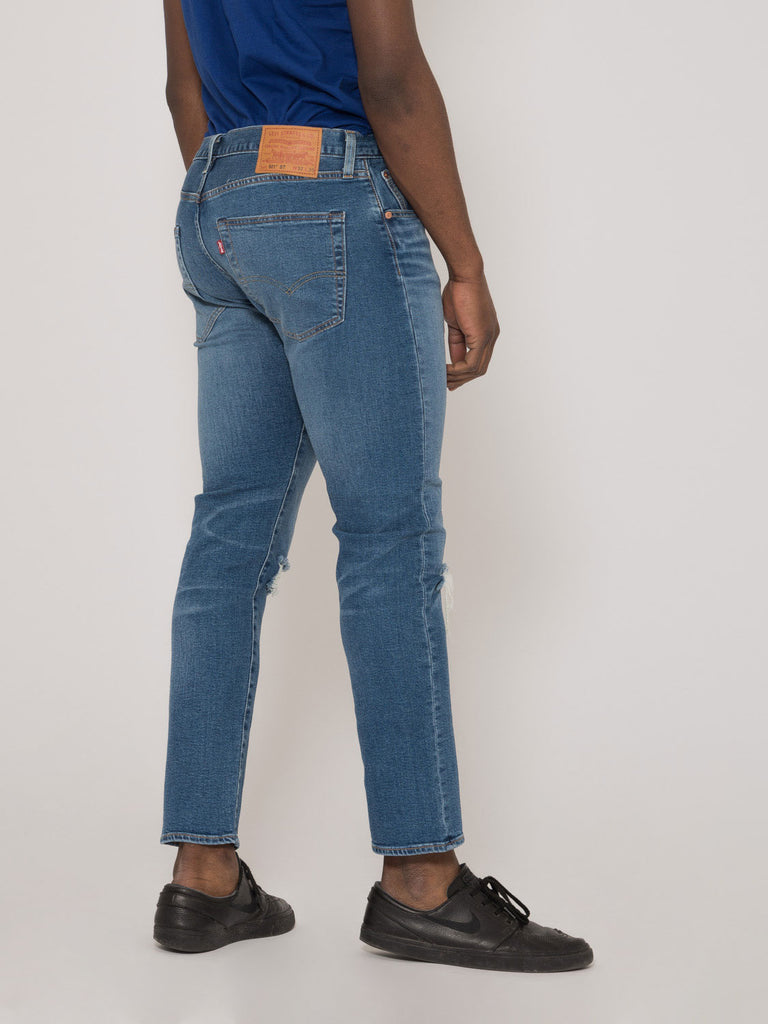 LEVI'S - 501 slim taper denim medio scuro L30