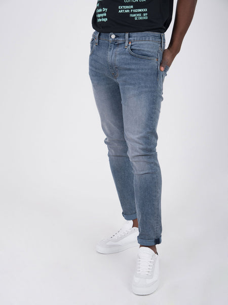 512 slim taper fit denim chiaro