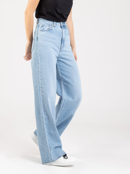 Jeans High loose denim chiaro
