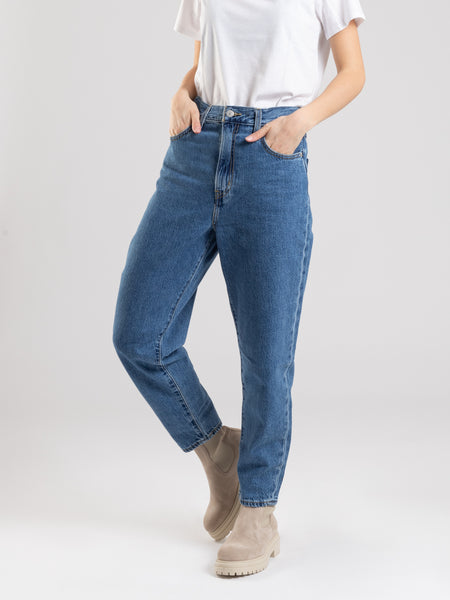 Jeans High Loose Taper denim medio
