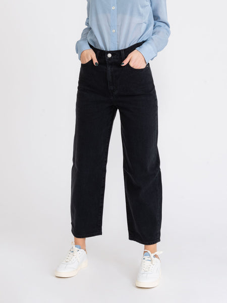Jeans high rise balloon neri