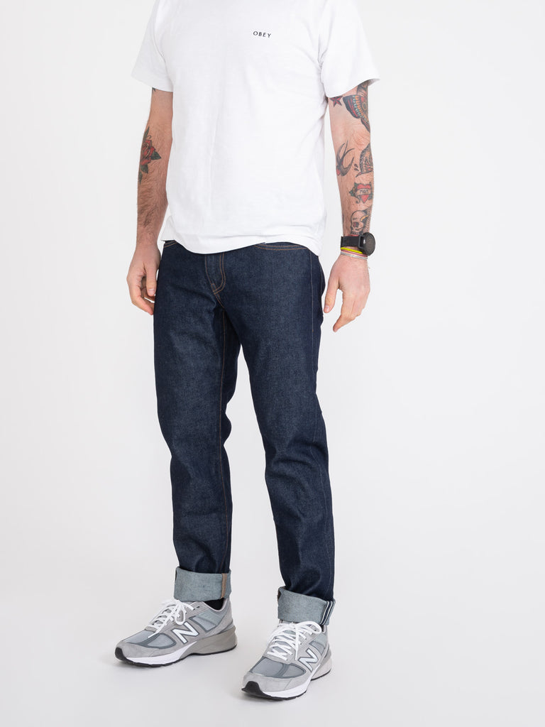 LEVI'S MADE AND CRAFTED - 502 taper low rise regular fit denim scuro
