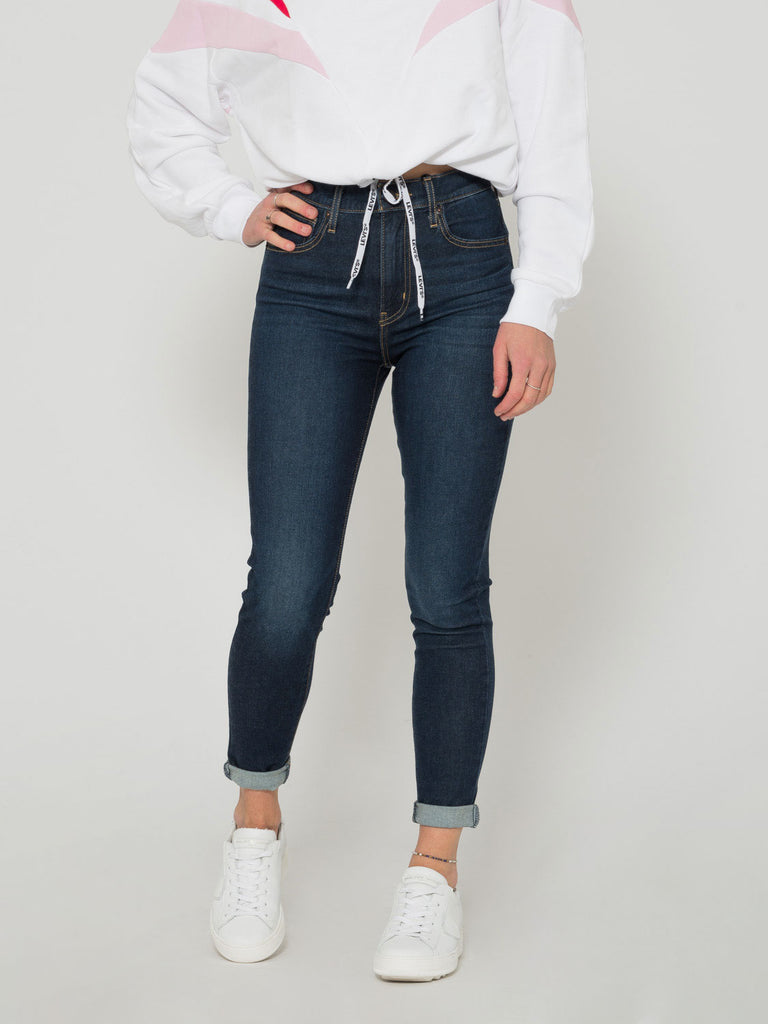 LEVI'S - Mile high super skinny denim scuro