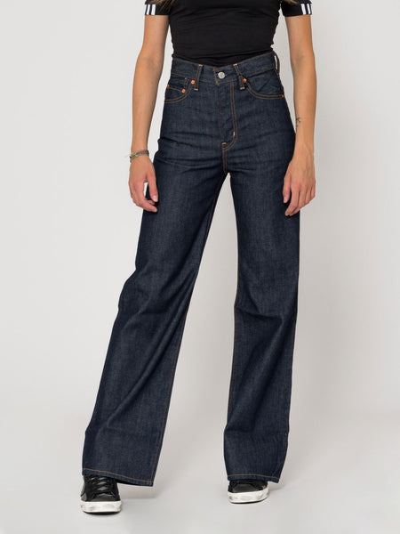 Ribcage wide leg denim scuro