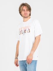 LEVI'S - T-shirt relaxed Graphic Serif bianca