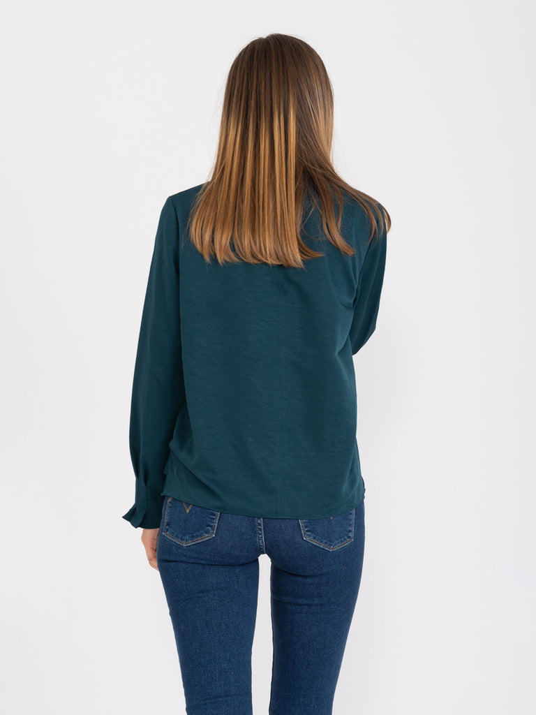 MAISON SCOTCH - Blusa Atelier No 4 petrolio