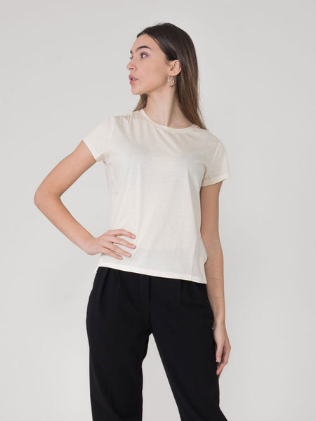 T-shirt basic Club Nomade ecru