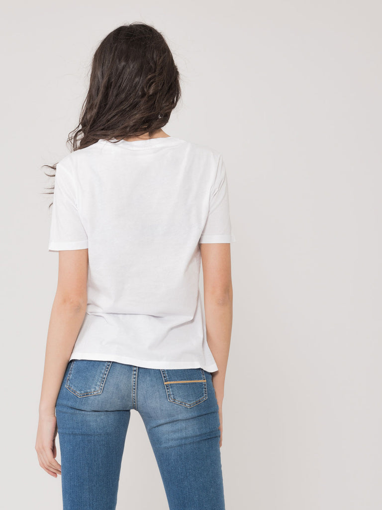 MAISON SCOTCH - T-shirt Seek The Sun bianca