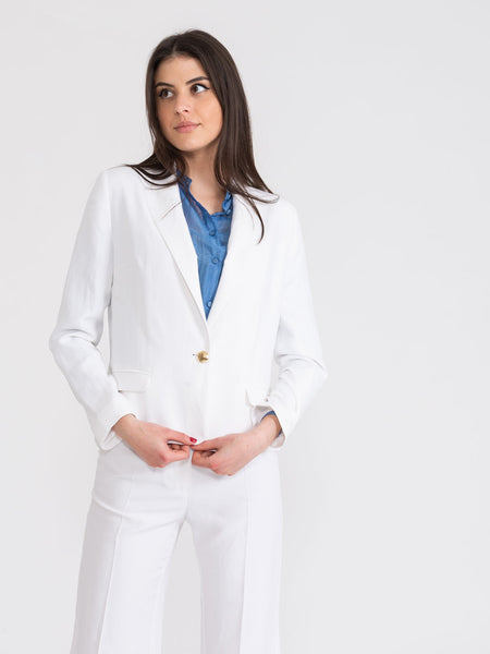 Blazer single-button bianco
