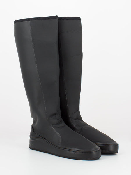 Packable Rain woman Boots black