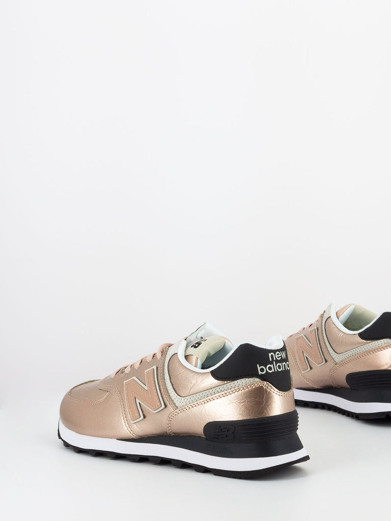 NEW BALANCE - 574 laminate oro rosa