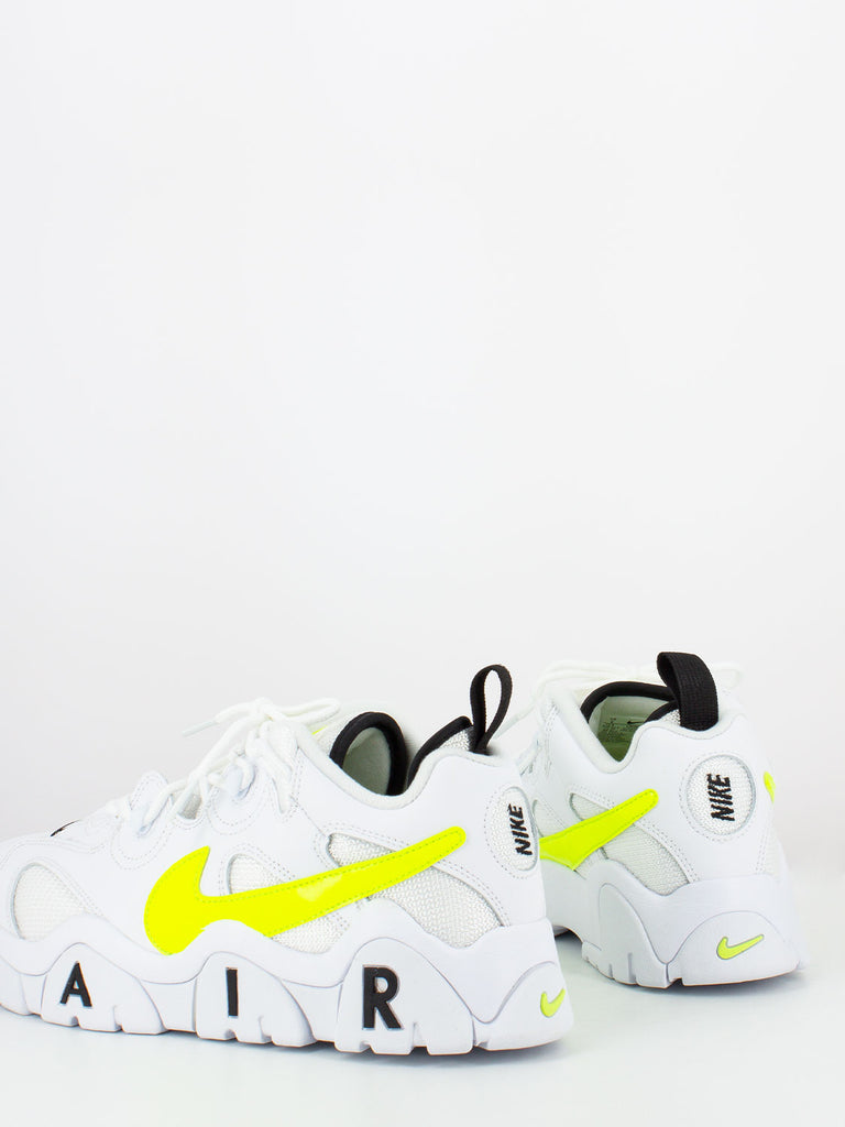 NIKE - Air barrage low bianco / giallo fluo