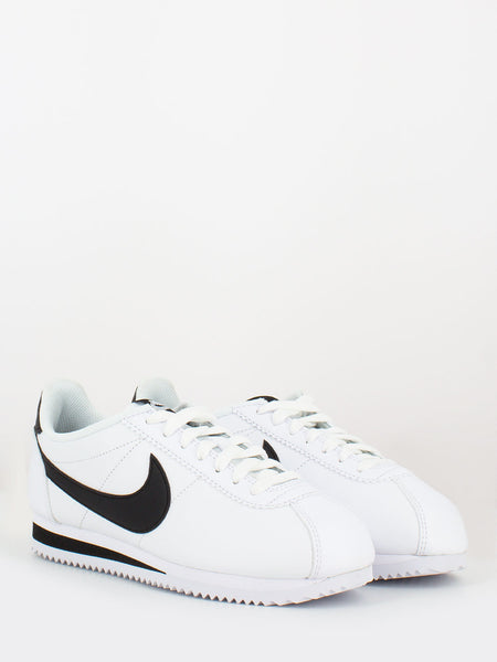 Classic cortez leather bianco / nero
