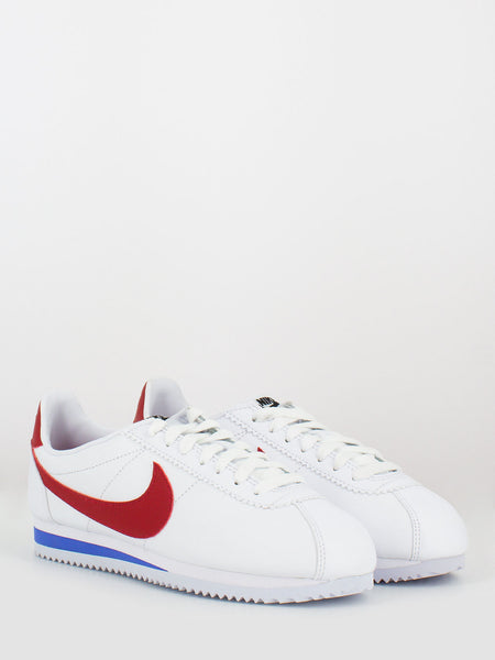 Classic cortez leather bianco / varsity red