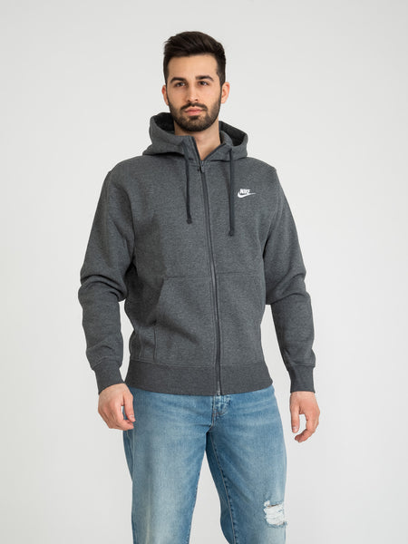 Felpa Sportswear Club Fleece grigio scuro