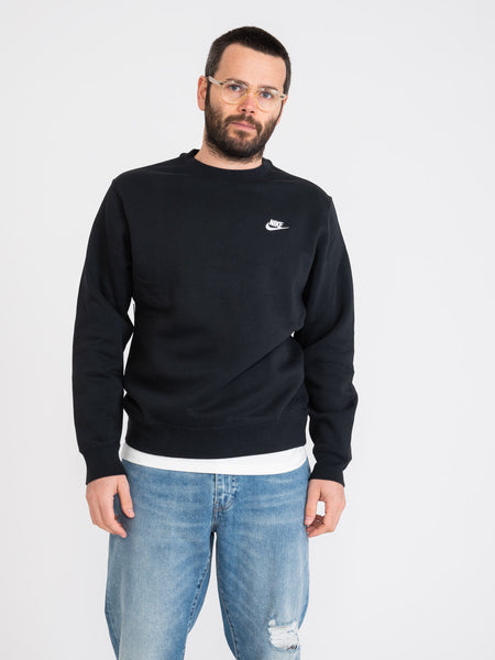 Felpa Sportswear Club Fleece nera
