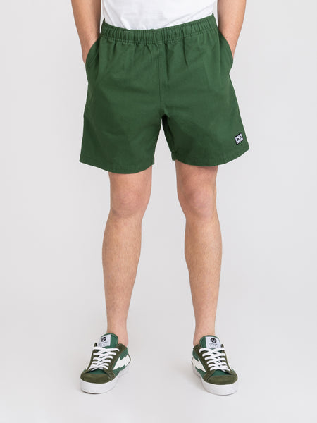 Shorts easy relaxed twill park green