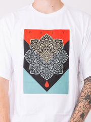 OBEY - T-shirt Blood & Oil Mandala bianca