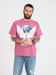 OBEY - T-shirt Worldwide Peace cassis