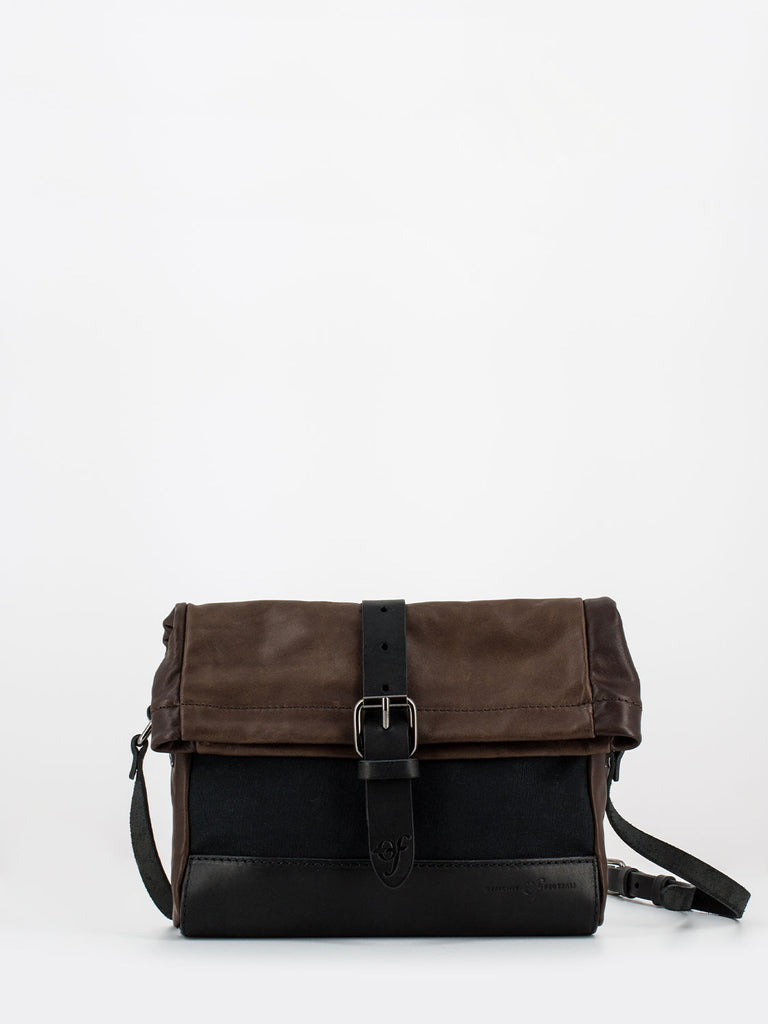 OFFICINE FEDERALI - Cross bag nero / marrone