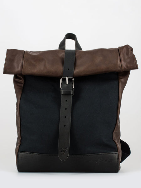 Zaino urban medium nero / marrone