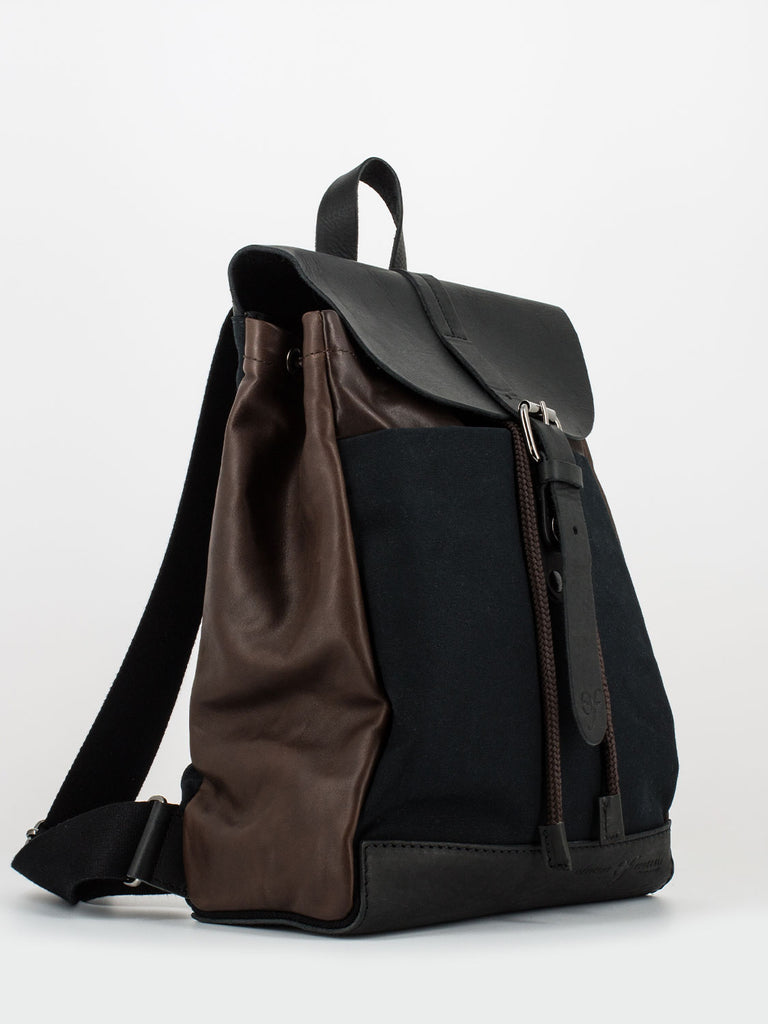 OFFICINE FEDERALI - Zaino urban small nero / marrone