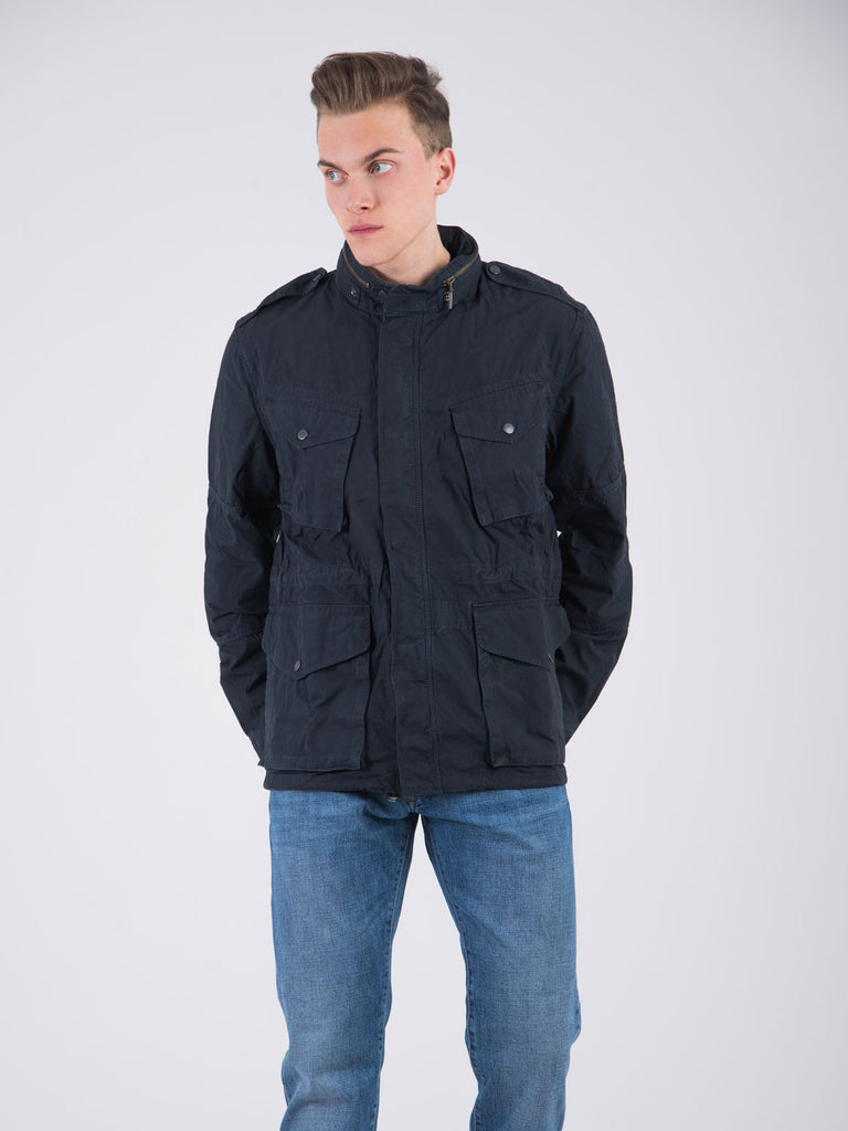 BARBOUR - Sahariana steve mc queen navy