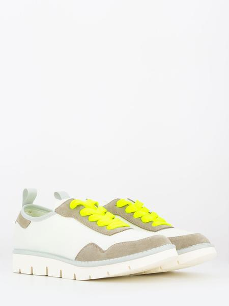 PANCHIC - Sneakers P05 Granonda Lace white earth / giallo fluo