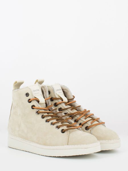 P01 Mid Cut in nabuk lining shearling earth / tan
