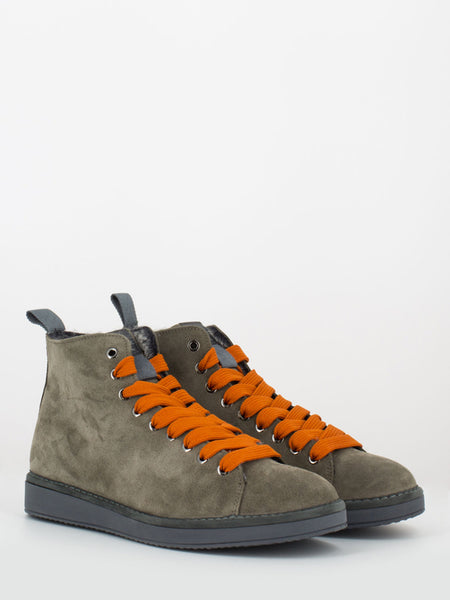P01 Mid Cut in suede lining eco fur caribou / amber