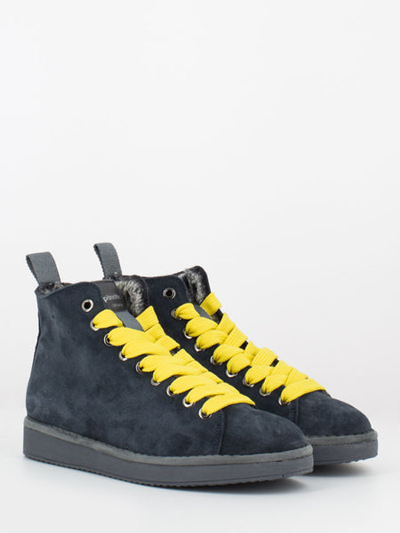 P01 Mid Cut in suede lining eco fur deep / taxi