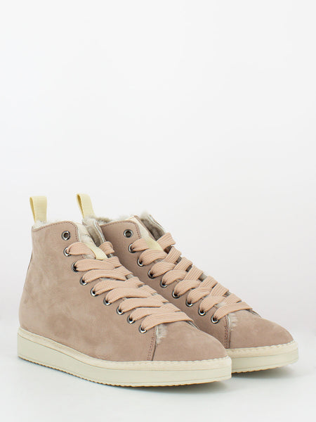 P01 Mid Cut in suede lining shearling quartz