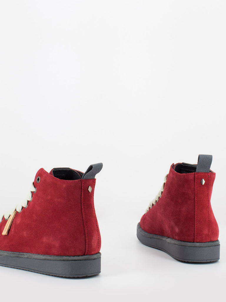 PANCHIC - P01 Mid Cut in suede scarlet / frost