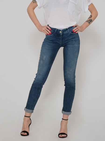 Jeans push up spring blue