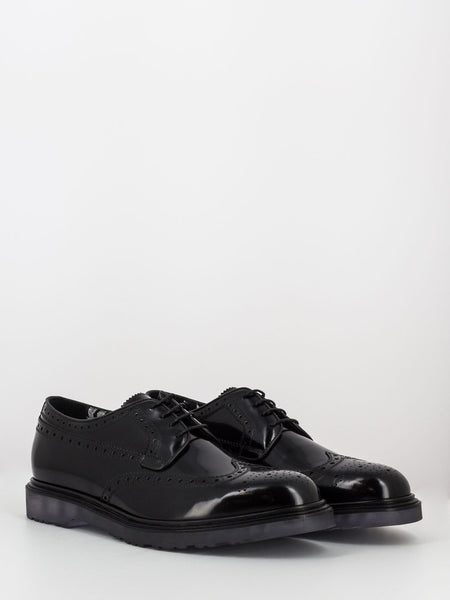 Derby full-brogue crispin nere