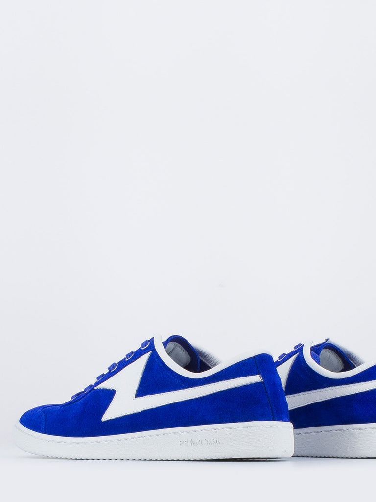 PAUL SMITH - Ziggy in camoscio bluette / bianco