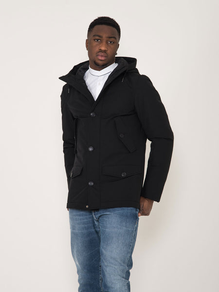 Parka short ebony nero