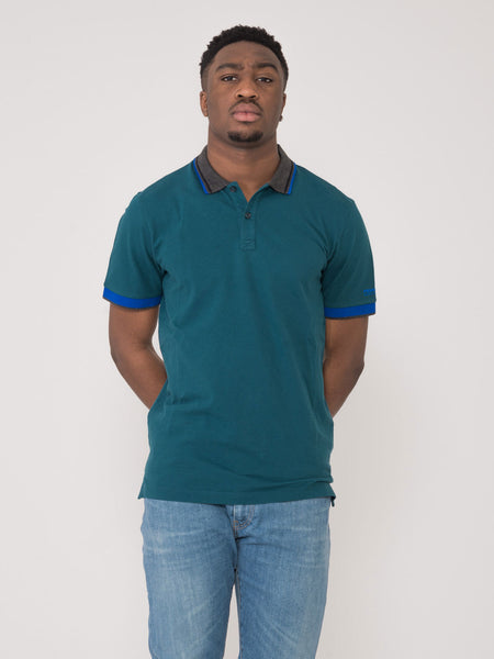 Polo basic pique petrolio